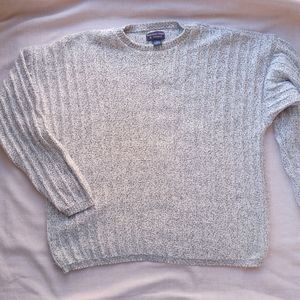 Comfy Sweater Heathered Crew Neck Soft Cotton